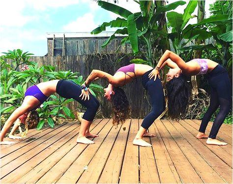 Fun On The Garden Patio In Paia With The Teacher Trainees Hawaii Yoga Teacher Training At The Maui Yoga Shala Yoga Shala Teacher Training Yoga Teacher