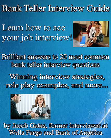 Bank Teller Interview Guide Cover 2018 Edition Interview Guide Bank Teller Interview
