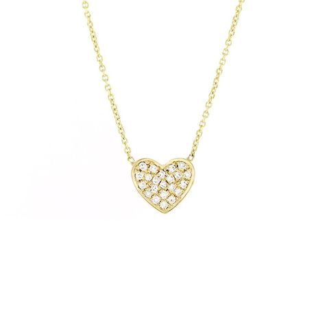 0.05 CT Round Cut Simulated Diamond Solitairelove Heart Pendant Necklace 14K White Gold