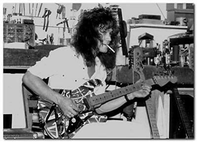 Details About Eddie Van Halen Poster 13x19 Inches Ready To Frame Guitar Workshop 1980 S In 2020 Eddie Van Halen Van Halen Book Display Shelf
