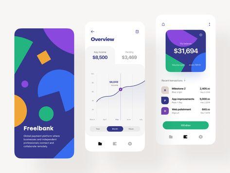 Freelancers' Bank 🎯 Splash, Overview, Wallet
