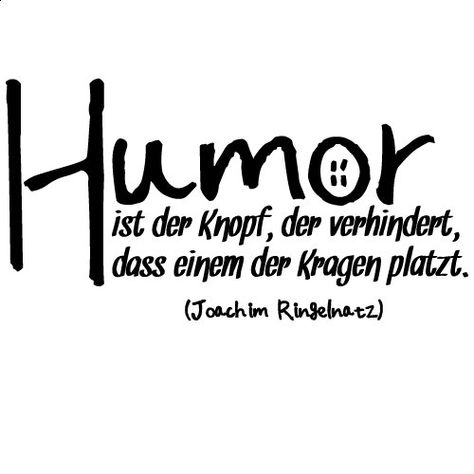 """Wandkings Wandtattoo """"Humor ist der Knopf, der verhindert, dass einem der Kragen platzt. (Joachim Ringelnatz)"""" 50 x 26 cm braun - erhältlich in 33 Farben: Amazon.de: Küche & Haushalt"""