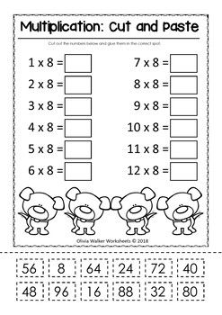 Pin On 2019 Unschool Cut and paste addition worksheets free