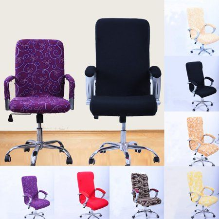 Home Office Computer Chair Cover Spandex Stretch Elastic Swivel Rotate Seat New