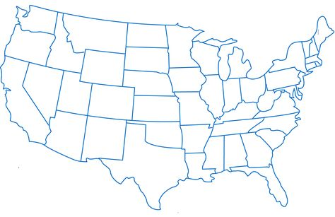Blank State Map Of Us BONECA STYLE Pinterest Craft - Blank us map for kids