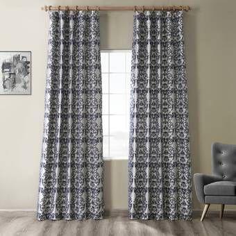 Wyndmoor Geometric Room Darkening Rod Pocket Single Curtain Panel En 2020 Rideaux Chambre Décoration Intérieure Rideaux