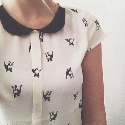 Pups AND a Peter Pan collar? Perfection. #modcloth #puppyprint