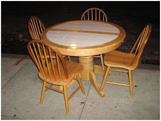 Uhuru Furniture Collectibles Blonde Kitchen Table And 4 Tile Top Tables Top Kitchen Table Table