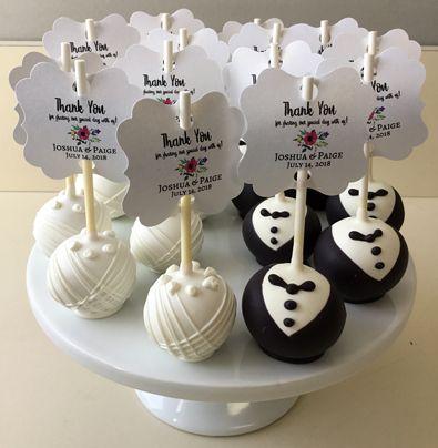 Bride And Groom Cake Pops Used For Wedding Favors Cake Pops York