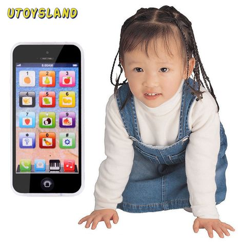 Kids Toy Cell Phone Developmental Educational Learning Baby Music Touch Screen