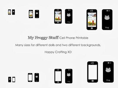 myfroggystuff printables My Froggy Stuff Doll Cell Phone
