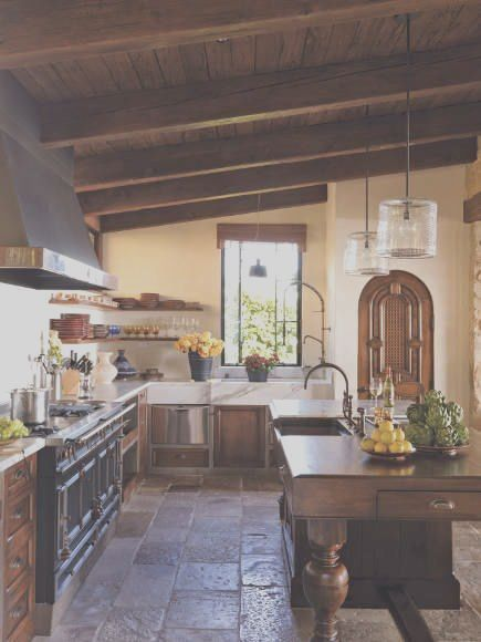 Tuscan Kitchen A Person Needs For Or Five Homes Just To In 2020 Italian Kitchen Design Spanish Style Kitchen Tuscan Kitchen