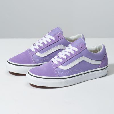 Womens shoes wedges, Purple vans