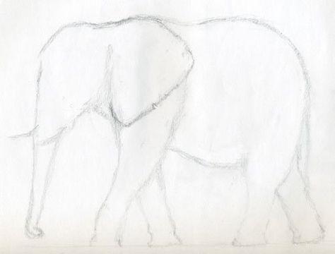 List Of Pinterest Elefant Malen Einfach Images Elefant Malen