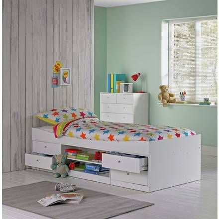 Buy Argos Home Ellis White Toddler Bed Frame With Storage Kids