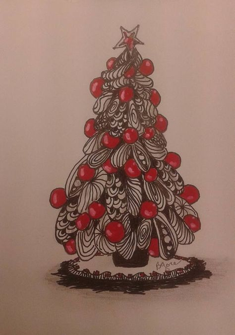 83 zentangle weihnachtenideen  weihnachten zentangle