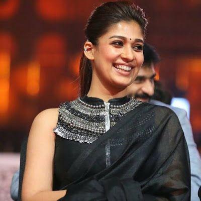 Top Beautiful Hairstyles Of Nayanthara Black Saree South Indian Actress Saree