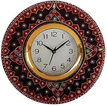 Pin On V Brown Wooden Wall Clock