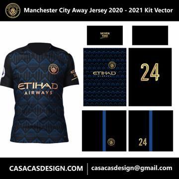 Manchester City Away Jersey 2020 2021 Kit Vector Manchester City Manchester Jersey