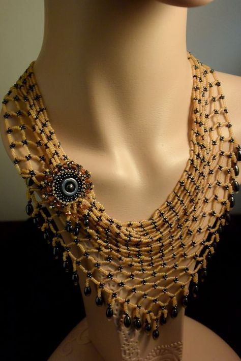 Golden Kerchief / bandana with detachable brooch.