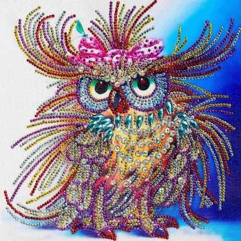 Lovely Owl DIY 5D Special Diamond Painting Embroidery Crystal Cross Stitch Kit