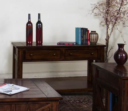 3227ab S Ranch House 60 Sofa Table With Timber Frame Design