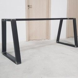 Metal Table Legs With Central Bar Pieds De Table Avec Bar Gambe Tavolo In 2020 Metal Table Legs Table Legs Metal Table