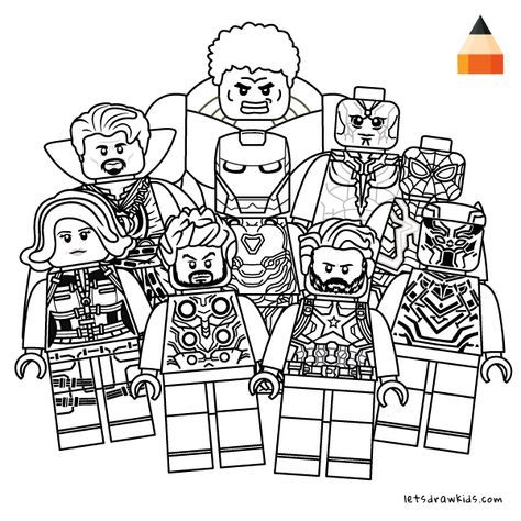Coloring Page For Kids How To Draw Lego Avengers Dibujos De