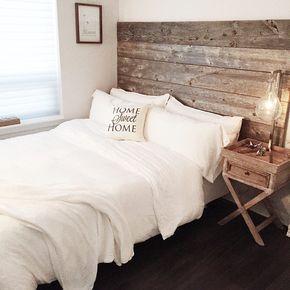 Reclaimed Wood Headboard Diy Installation Made From Real Barn