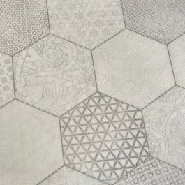 Hexagon Pattern Vinyl Flooring Mehndi White Vinyl Flooring Flooring Vinyl Flooring Kitchen