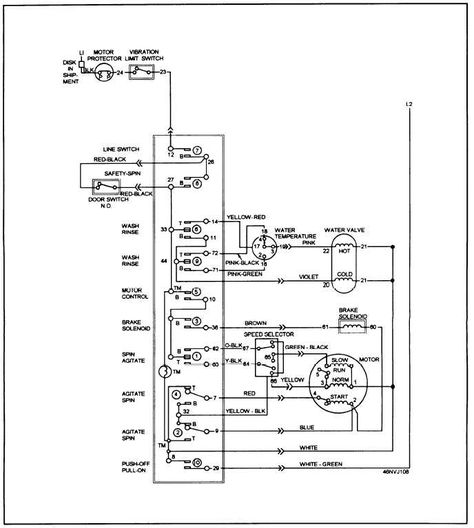 Washing Machine Wiring Diagram httpwwwautomanualpartscom