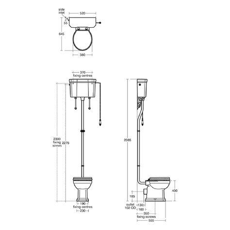 Ideal Standard Waverley Classic High Level Cistern Toilet High