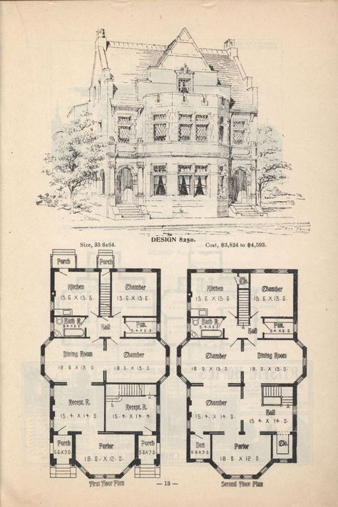Artistic City Houses No 43 Herbert Chivers Free Download Borrow And Streaming Internet Archive Victorian House Plans City House Vintage House Plans
