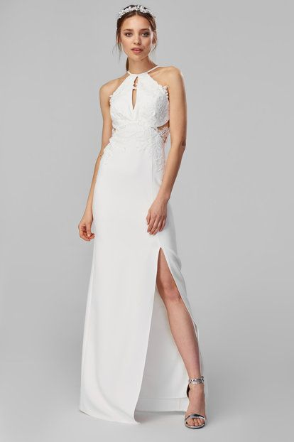 Ekru Aplikeli Abiye Elbise Elbise Resmi Elbise The Dress