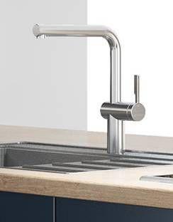 Grosser Runder Wasserhahn Kuchenamatur Waschamatur Aus Edelstahl Fur Eine Moderne Kuche Home Decor Decor Sink