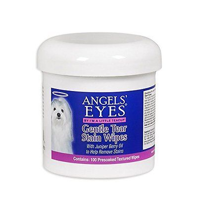 Gentle-Textured-Tear-Stain-Wipes-Remover-Best-Angels-Eyes-Dog-Pet-4-oz-100-Ct