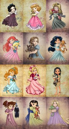 coolTop Disney Tattoo - Child Princesses (love that Thumbelina and Odette/swan princess make it into her...