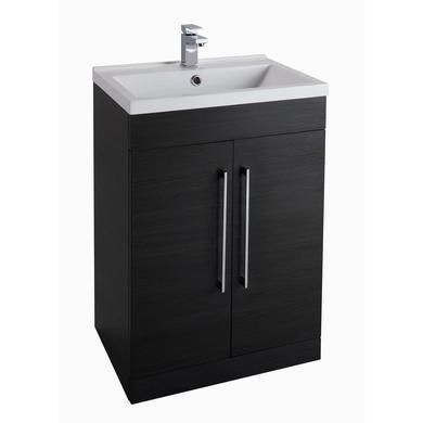 Moderno Black Ash Freestanding Basin Vanity Unit Without Basin
