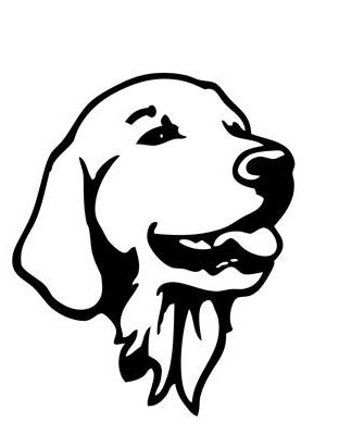 Image Result For Golden Retriever Stencil Dog Drawing Simple