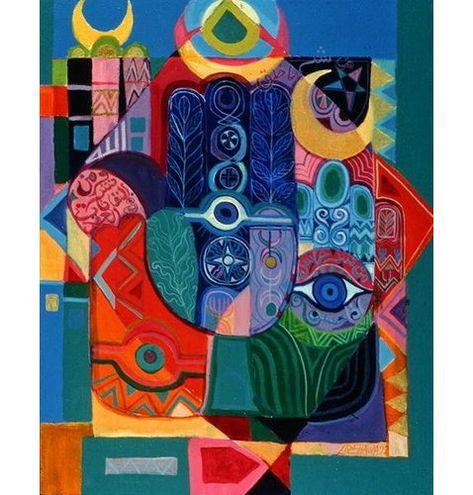 Palestinian artist Laila al-Shawa, Hands as Amulets I, 1992