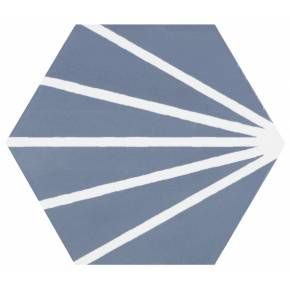 carrelage hexagonal au design vintage