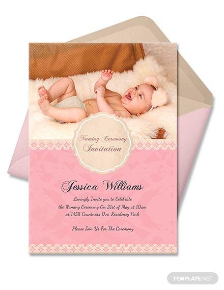 Free Happy Baby Naming Ceremony Invitation Card Naming Ceremony Invitation Naming Ceremony Baby Birthday Invitations