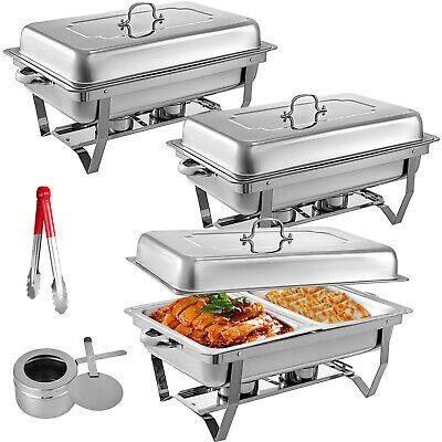 Ad Ebay 3pack Chafer Chafing Dish 1 2 Inserts Warm Tray Set 8