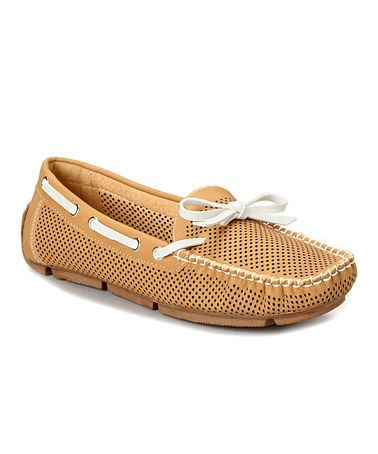 Another great find on #zulily! Camel Marseille Boat Shoe #zulilyfinds