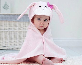 Bunny Baby Hooded Towel Personalised Rabbit Baby Towel Newborn Baby Girl Gifts Personalised Baby Bath Towel Personalized Baby Gifts Baby Hooded Bath Towel