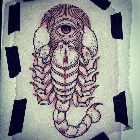 """5d900e931 77 curtidas, 1 comentários - Nick Pulzone (@pulzone) no Instagram:  """"Scorpion. #art #artist #tattoo #tattoos #madeinbend #inbend  #monolithtattoostudio ..."""