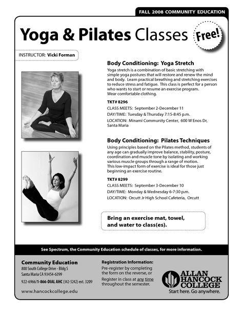 pilates flyers ideas - Google Search Pilates branding Pinterest - yoga resume