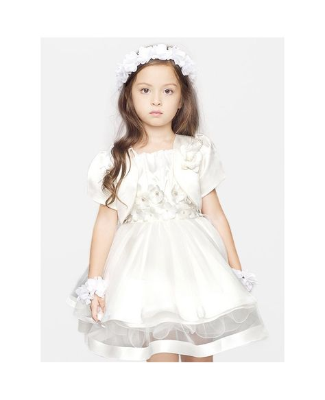 bea0f039049 Short Ball Gown Tulle Black Flower Girl Dress with Jacket - GemGrace