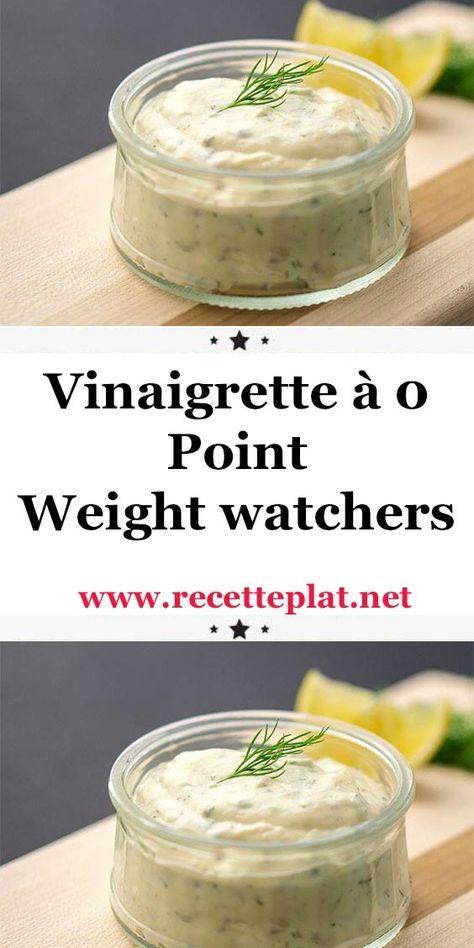 Vinaigrette à 0 Point Weight watchers