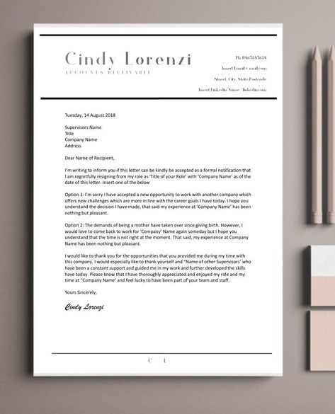 20 Off all Resignation Letter Templates - Resume Template